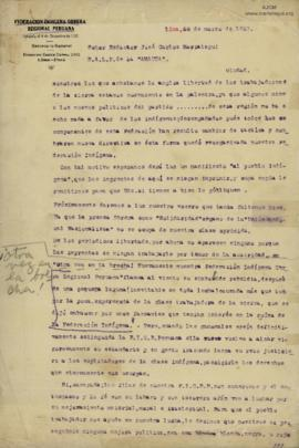 Carta de Francisco Kamat, 28/3/1927