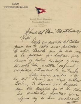 Carta a Bertha Molina (Ruth),18/10/1919