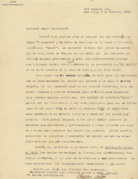 Carta de Stephen Naft, 5/2/1930