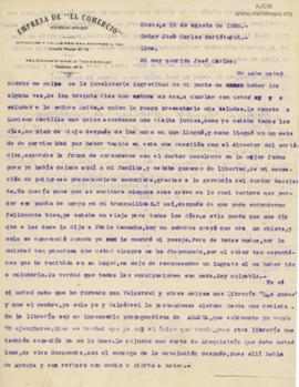 Carta de Lucas Oyague,16/8/1928
