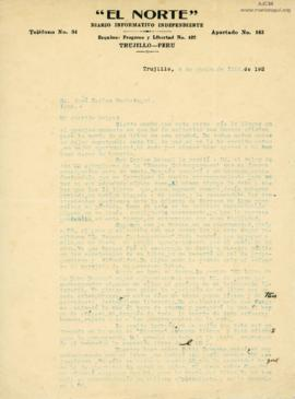 Carta de Alcides Spelucin, 6/6/1926