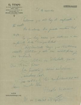 Carta a Bertha Molina (Ruth), 21/11/1916