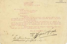 Carta de Francisco Laguado Jayme,1/4/1928