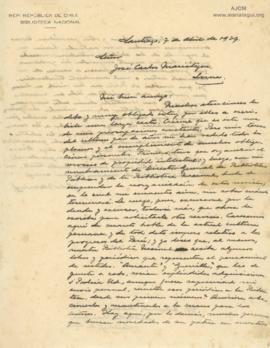 Carta de Eduardo Barrios, 7/4/1927