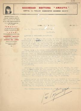 Carta a Joaquín Edwards Bello, 26/3/1930