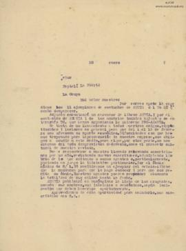 Carta a Neptalí La Madrid, 28/1/1929
