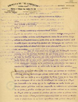 Carta de Lucas Oyague, 12/2/1930