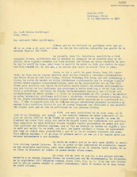 Carta de Concha Romero James,1928-09-16