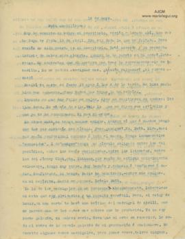 Carta a Bertha Molina (Ruth), 14/5/1916