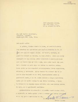 Carta de Earle K. James A, 25/10/1928